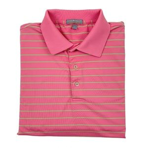 Peter Millar Summer Comfort Mens Pink Striped Polo